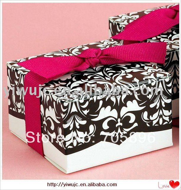 Damask Wedding Favor Boxes : Pcs free shipping hot damask wedding favor candy box