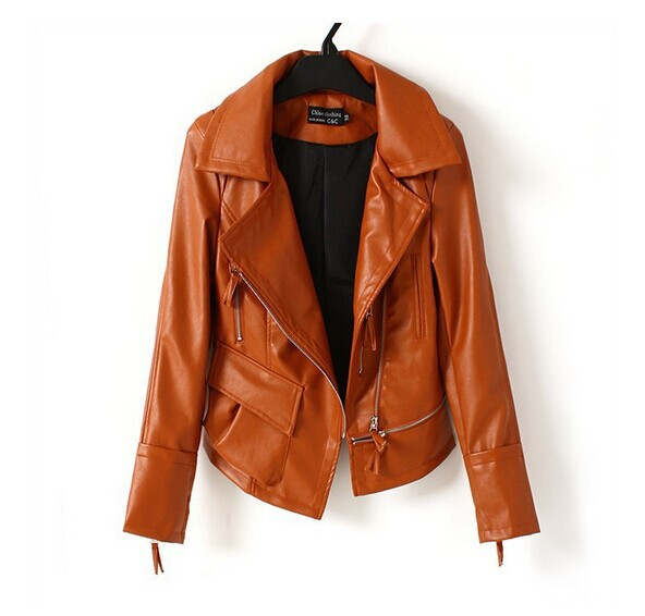 autumn artificial leather bomber jacket female fall jackets for women abrigos mujer veste femme. Black Bedroom Furniture Sets. Home Design Ideas
