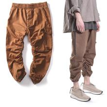 2016 TOP Kanye West Yeezy Season 1 Oversized Jogging Pants Men's Harem Pants HipHop Kpop Casual Pocket Zipper Pencil Pants Label
