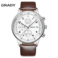 Leather Watches Men Luxury Top Brand Grady New Fashion Men s Designer Quartz Watch Male Wristwatch