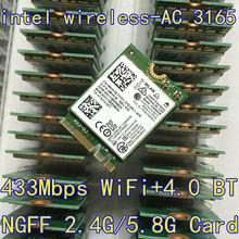Intel 3165 3165NGW 3165AC Dual Band Wireless AC + Bluetooth4.2 Mini NGFF wifi 802.11AC tarjeta de 4.2 433 Mbps NGFF tarjeta inalámbrica 3160