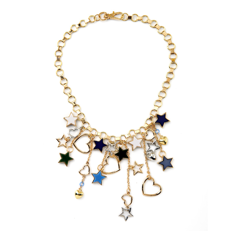Bib Statement Necklace Women Fashion Jewelry Sweet Heart ...