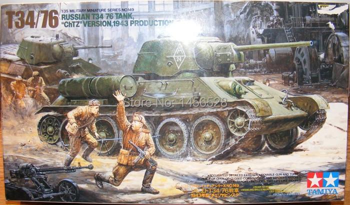 TAMIYA models plastic scale modes 1/35 tank 35149 RUSSIAN T34 76 TANK plastic assembly model kit scale tank model building kit(China (Mainland))