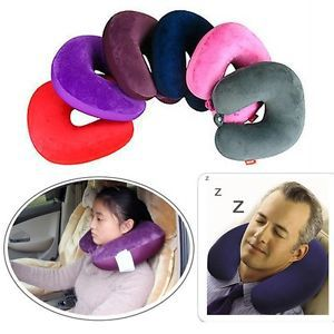 New Comfort Car U-shaped Memory Foam Cotton Travel Neck Rest Soft Cushion Pillow