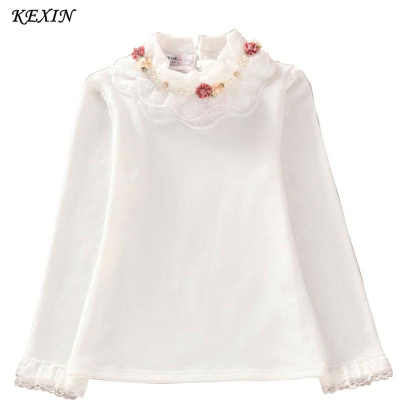 Гаджет  China salling 2015 Fashion Children kids girls blouses Baby girls long sleeved school lace white shirts tops&tees TD014 None Детские товары