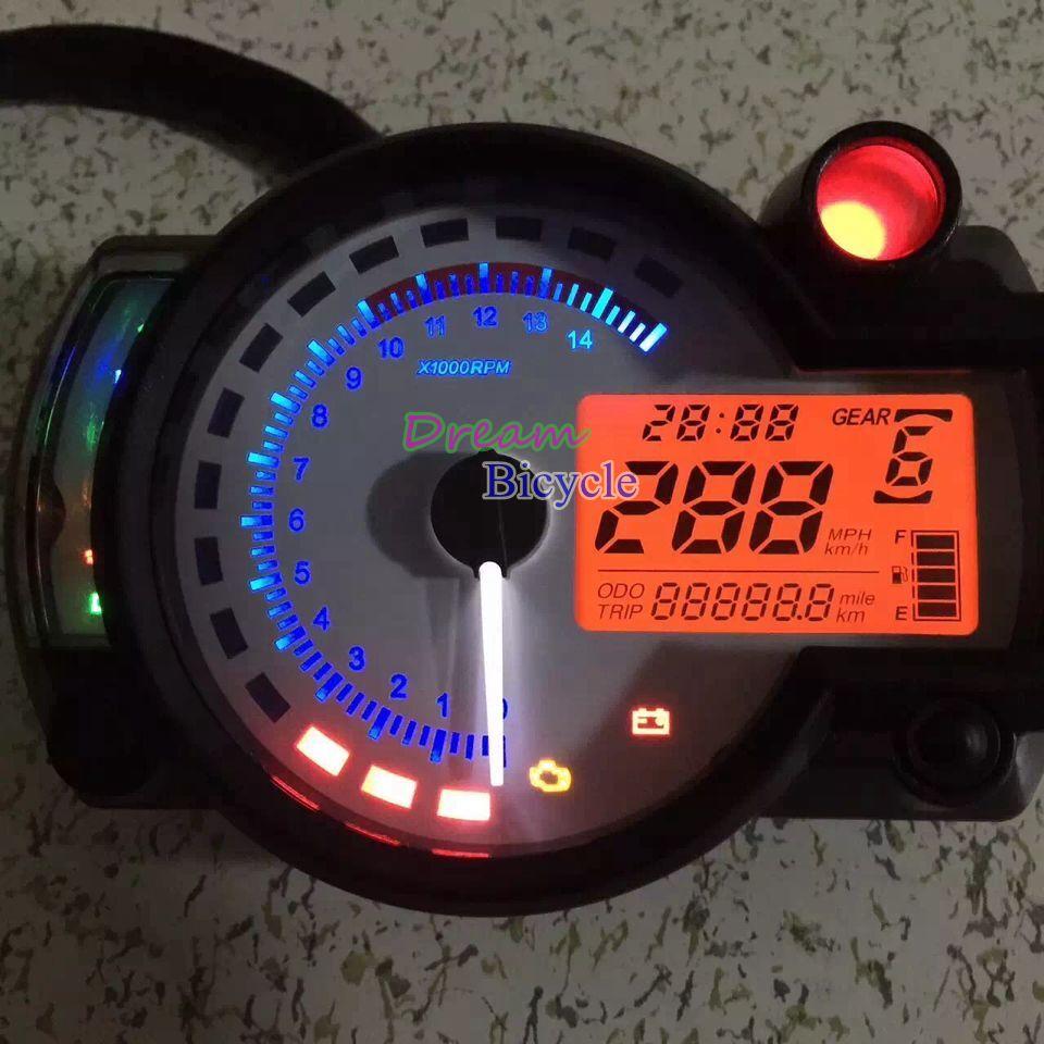 2015 modern KOSO RX2N similar LCD digital Motorcycle odometer speedometer adjustable MAX 299KM/H Fre