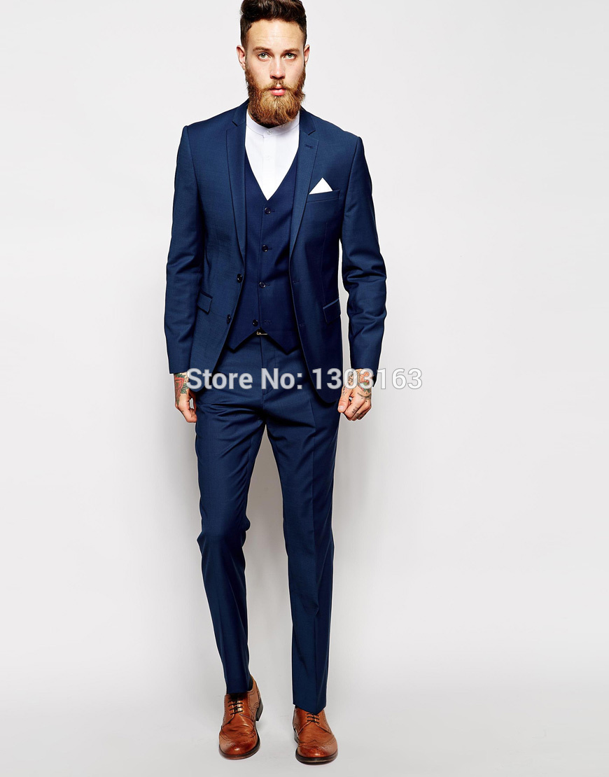 Online Buy Wholesale navy blue skinny suit pants from China navy
