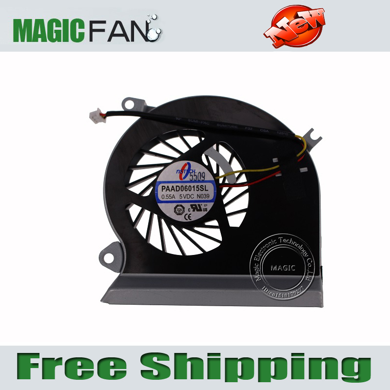 Wholesales&Retail High Quality laptop/notebook CPU Cooling Fan fit For MSI GE70 series notebook PAAD0615SL 3pin 0.55A 5VDC N039(China (Mainland))