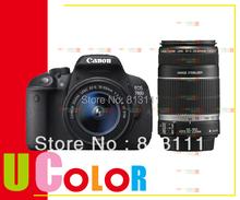 Original New Canon EOS Rebel T5i 700D DSLR Camera 18-55mm IS STM + EF-S 55-250mm f/4-5.6 IS STM Twin Lens Kit(Hong Kong)