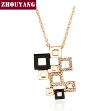 Top Quality Magic Cube 18K Gold Plated Fashion Pendant Necklaces Made with Austria Crystal Wholesale ZYN091 ZYN092 ZYN231(China (Mainland))