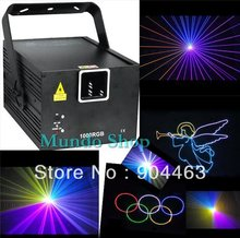 DHL RGB 1000mw 1W full color animation laser Stage Lighting ilda 25kpps Red 635nm Beam show system Disco laser, free shipping(China (Mainland))