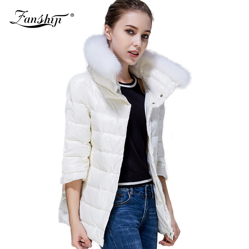 Free Shipping Long Plus velvet Winter Women Coat  Fashion All-match Slim Coat Fur Collar 100%Polyester Europe Style  WindbreakerОдежда и ак�е��уары<br><br><br>Aliexpress