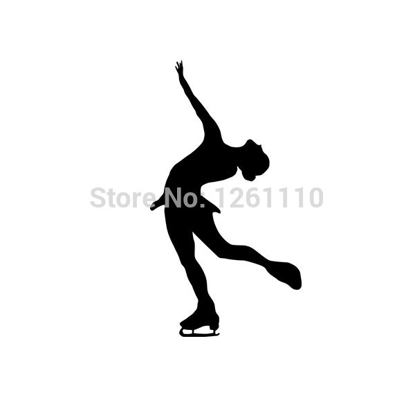 Winter Sports Modern Figure Skating Ice Dance Pose Designed Vinyl Car Sticker Decals For Truck Window Bumper Laptop Wall Glass(China (Mainland))