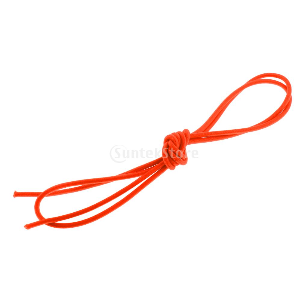 Orange 3mm 0.5-100m Strong Bungee Rope Shock Cord Tie Down Strap Trailer Boat Kayak/ Replacement Tent Folding Rod Elastic Rope