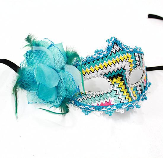 Ladder blue colored drawing halloween mask masquerade masks mask flower