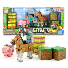 New Minecraft Game Action Figure Toys Juguetes Sword Espada Pink Pig And Horse Minecraft Model Figure Kids Toy Gifts Brinquedos
