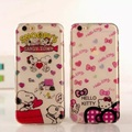 Cute Cartoon Phone Case for Iphone 6 6s Hello Kitty Puppy Dog Transparent Soft TPU for