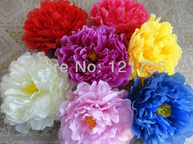 17cm big Peony flowers head artificial silk flowers