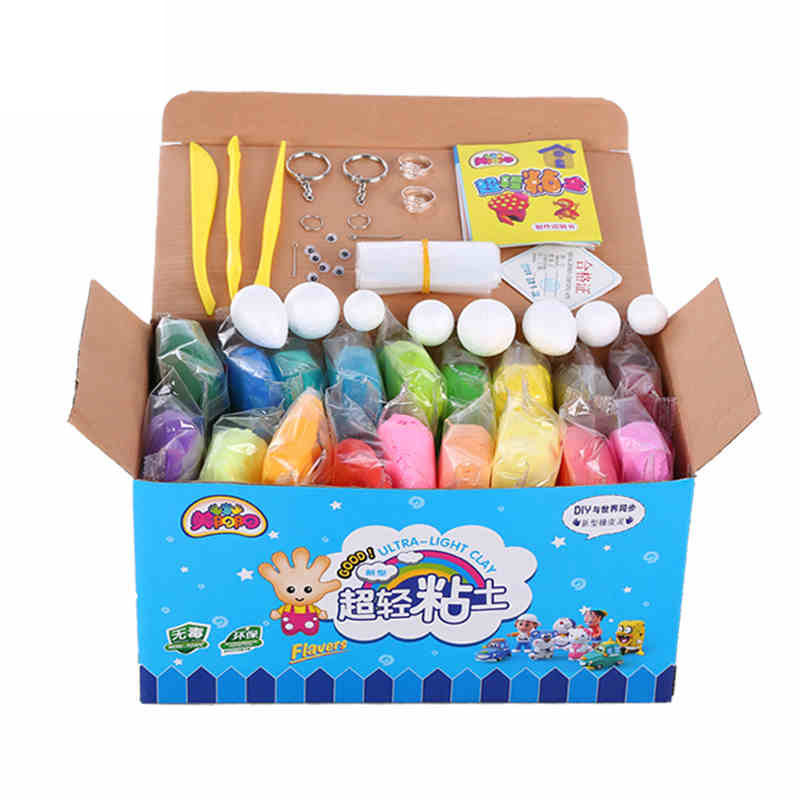 36 Colors Colored Modeling Clay Magic Playdough Play Doh Playdoh Play Dough Set Kid Foam Jumping Clay Plasticine Educational Toy(China (Mainland))
