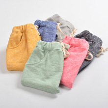 2016 Spring Winter Girls Boys Solid Harem Capris Pants Children Candy Color Cotton Trousers Kids Clothes Baby Unisex Harem Pants