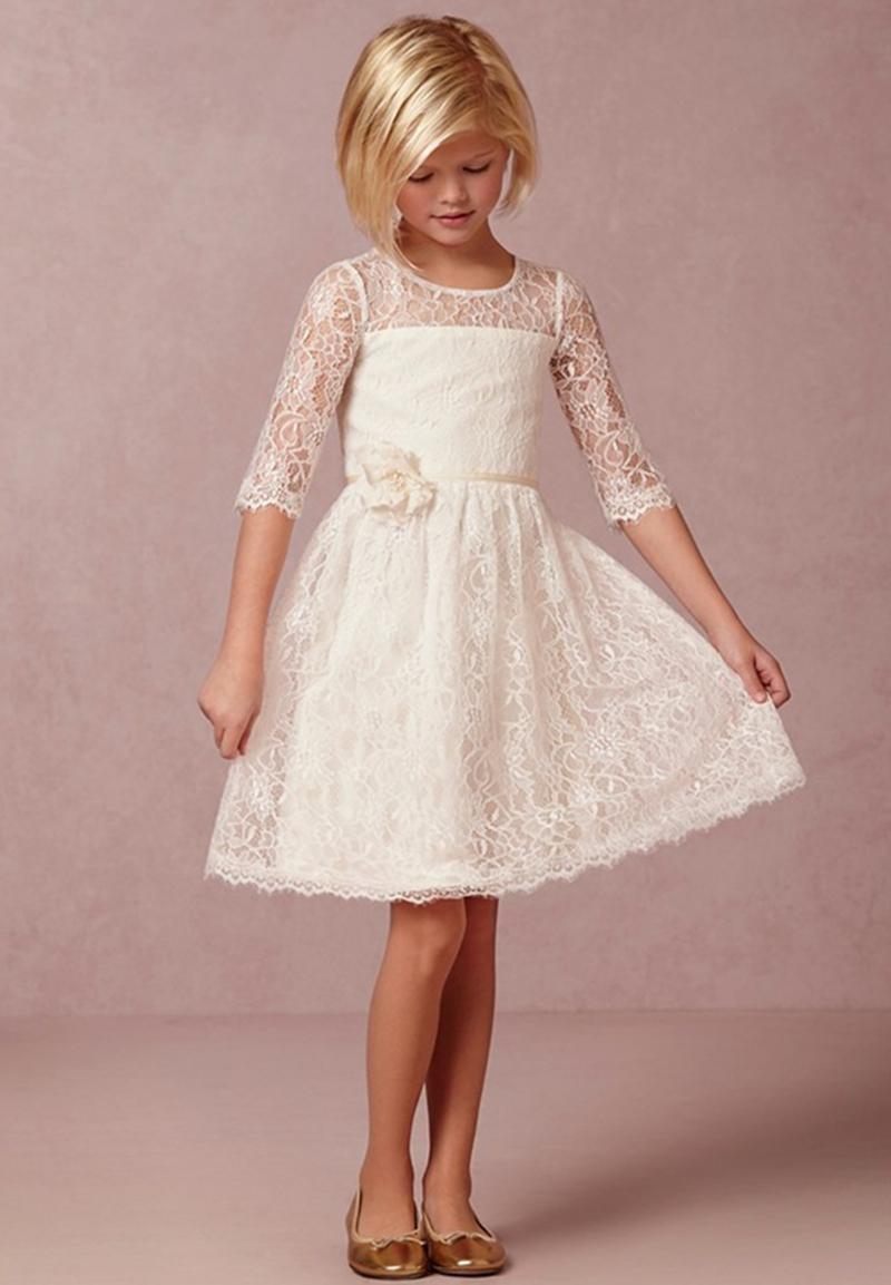 buy 2015 ivory vintage lace flower girl. Black Bedroom Furniture Sets. Home Design Ideas