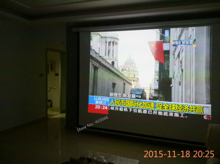 150 inch motorized screen pic 23
