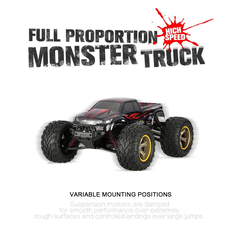 Hot Sale Original GPTOYS Foxx S911 Monster Truck 1/12 RWD High Speed Off-Road Remote Control RC Car