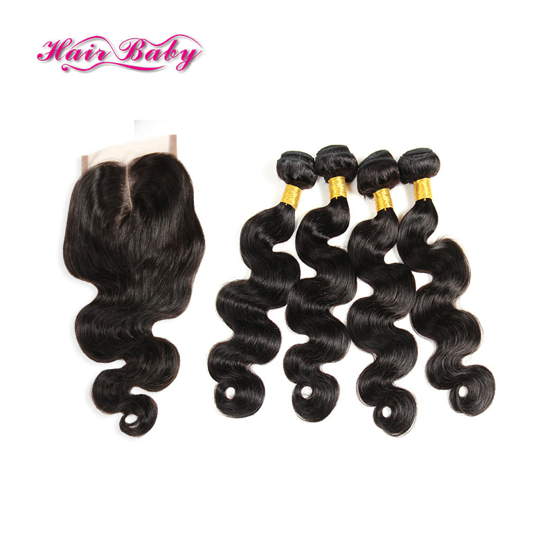 Top Peruvian Virgin Hair Body Wave With Closure 4pcs Peerless Peruvian Body Wave Closure Peruvian Remy Human Hair With Closure