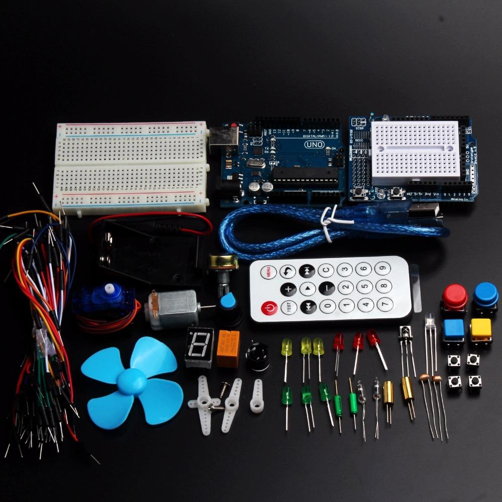 Starter kit uno r and sensor mini breadboard led