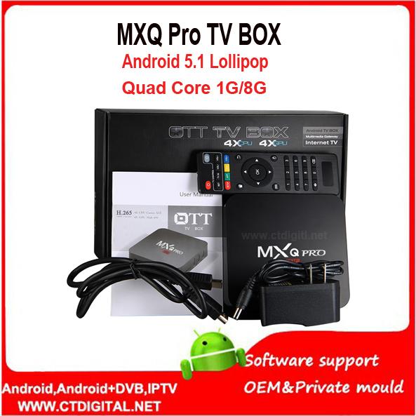 mxq pro dhl 10pcs mxq pro Amlogic S905 4K Android 5 1 Lollipop kodi TV Box