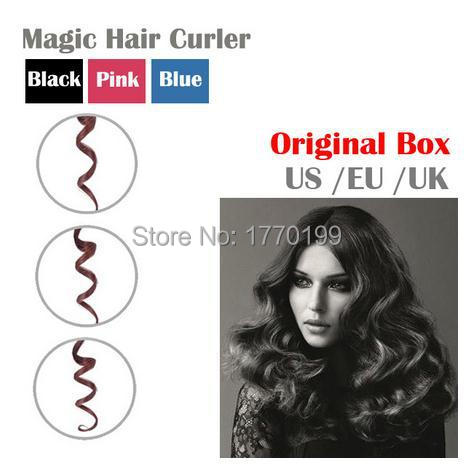 ORIGINAL BOX + Nano Titanium Automatic Curls Hair Curler Perfect Hair styler Curl Styling Tools Hair Care Curling Iron Roller(China (Mainland))