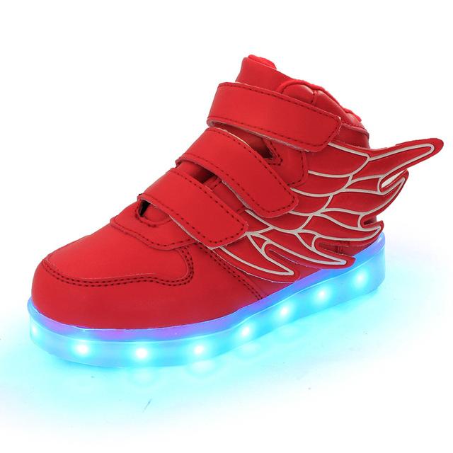 2017 Световой Индикатор Shoes Для детей Мода Высокого Качества Унисекс LED световой Shoes девушки и мальчики Повседневная Shoes led shoes for kids