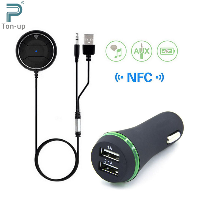 Aliexpress.com : Buy NFC Car Kit 3.5mm Bluetooth 3.0 Audio Receiver Hands Free Stereo Music Aux