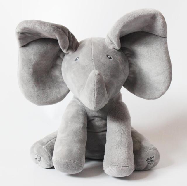 Peek A Boo Слона, Чучела Анимированные и Плюшевые Слон Кукла, плюшевые Игрушки и Музыкальный Кукла Для Подарков Или Рождество Подарки