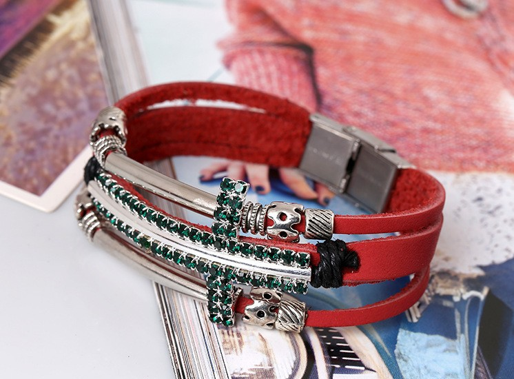 Браслет с брелоками Noble pulseiras braceletes pulseira couro HSH1027