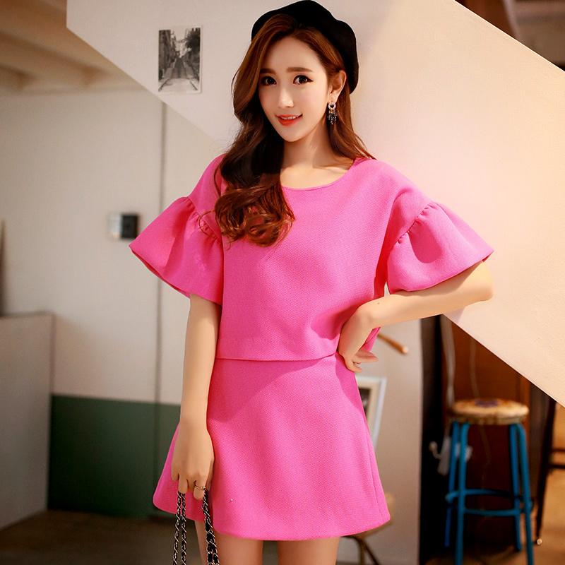 Original New 2016 Brand Spring Autumn Faldas Plus Size Slim Fashion Casual Jacquard Solid Rose Mini Skirt Women Wholesale