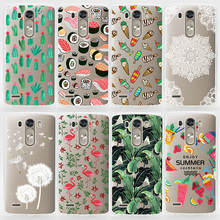 TPU Soft Case For LG G3 Transparent Colored Drawing Ultra-Thin Silicone TPU Phone Cover For LG G3