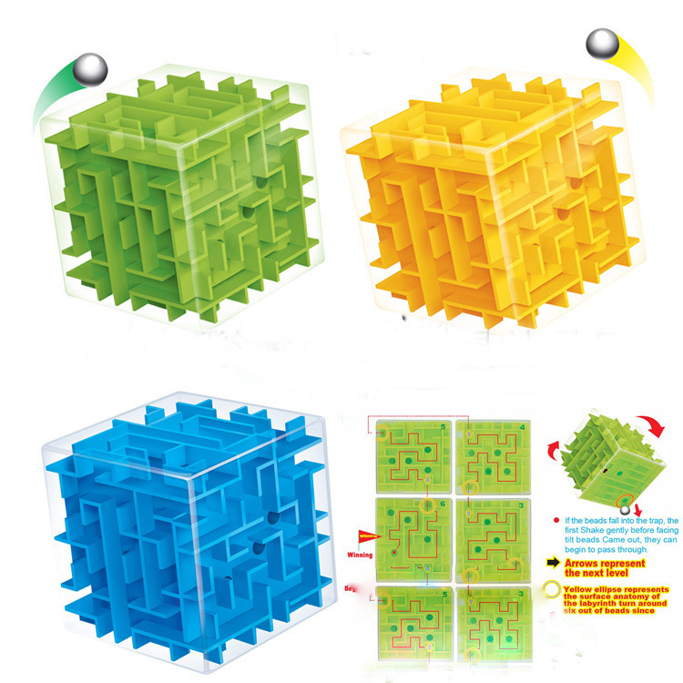 New 3D Maze Magic Cube Toys For Children And Adult 3D cubo magico Labyrinth Rolling Ball Baby Educational Toys(China (Mainland))