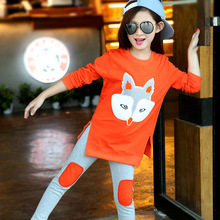 Girls Spring Sets 2017 New Children's Leisure Clothing Suit Fashion Long sleeves Cotton Shirts+Girls Pants 2 Pieces Kids Clothes(China (Mainland))