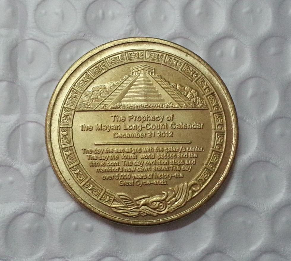 Mayan 2012 Prophecy gold Coin Free Shipping(China (Mainland))