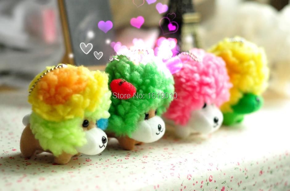 2015 latest Key chains small pendant Afro Ken plush toys 10CM Cool Puppy plush pendant(China (Mainland))