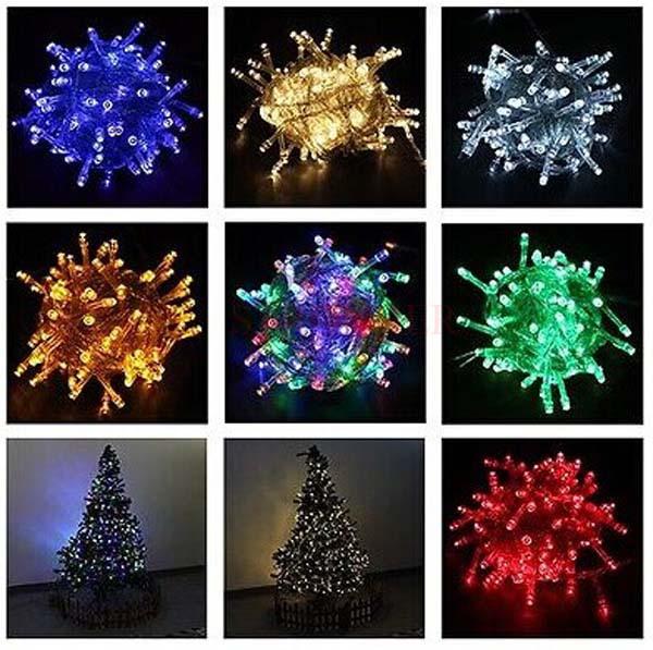 Multi-color Christmas lights 100 LED 10m String Fairy Lights for Christmas Xmas Party Wedding(China (Mainland))