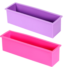 Rectangle Silicone Soap Mold Wooden Box DIY Tools Toast Loaf Baking Cake Molds  FM1176(China (Mainland))