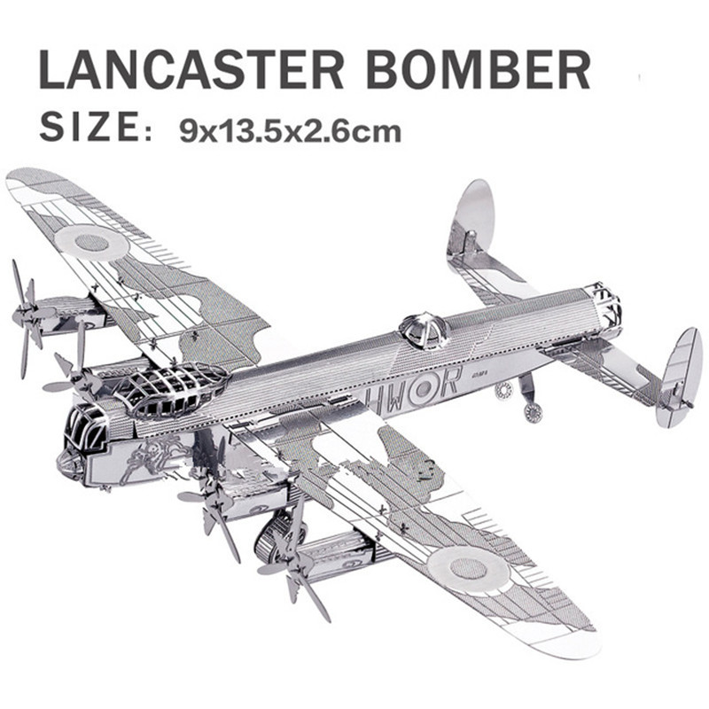 Real details New creative Cool Bomber 3D metal model 3D puzzles Lancaster bomber Jigsaws Creative DIY Children toys DIY(China (Mainland))