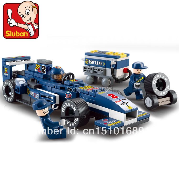 Educational Toys children Sluban Building Blocks DIY F1 racing car self-locking bricks Compatible Lego - zhichao shaw's store
