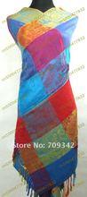 Free shipping! 1pcs Pashmina silk Scarves Shawl Wrap Stole Scarf(China (Mainland))