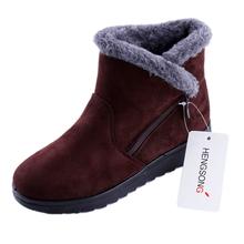 Kobieta snow boots buty zimowe Damskie buty damskie buty do kostki mody przypadkowi płaskie ciepłe pluszowe buty kobiece panie 2018 nowy OR400880(China)