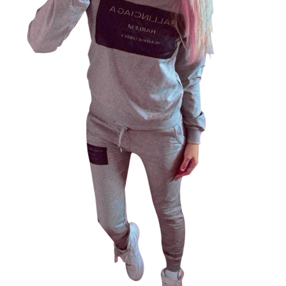 2016 Hot Sale Fashion And Casual Women Print Tracksuit Hoodie Sweatshirt Coat Pants Casual 2