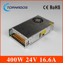 Free Shipping 400W 24V 16.6A Single Output Switching power supply dc 24v power supply for LED AC to DC smps