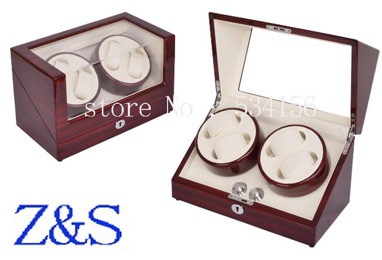 2015 Latest Fashion  Channel Automatic Watch Winder,5 Modes Box Case Locks Black Wooden Watch Winders jewelry box<br><br>Aliexpress